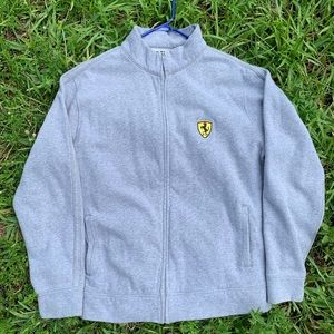 Vintage Farrari embroidered zip up sweater🇮🇹